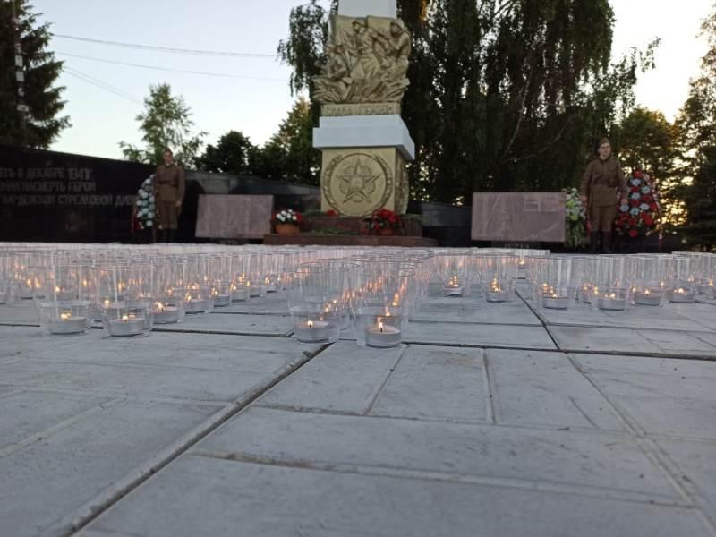 Акция «Свеча памяти» прошла в деревне Нефедьево